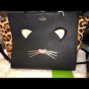 kate spade leopard haircalf Hayden kitty bag